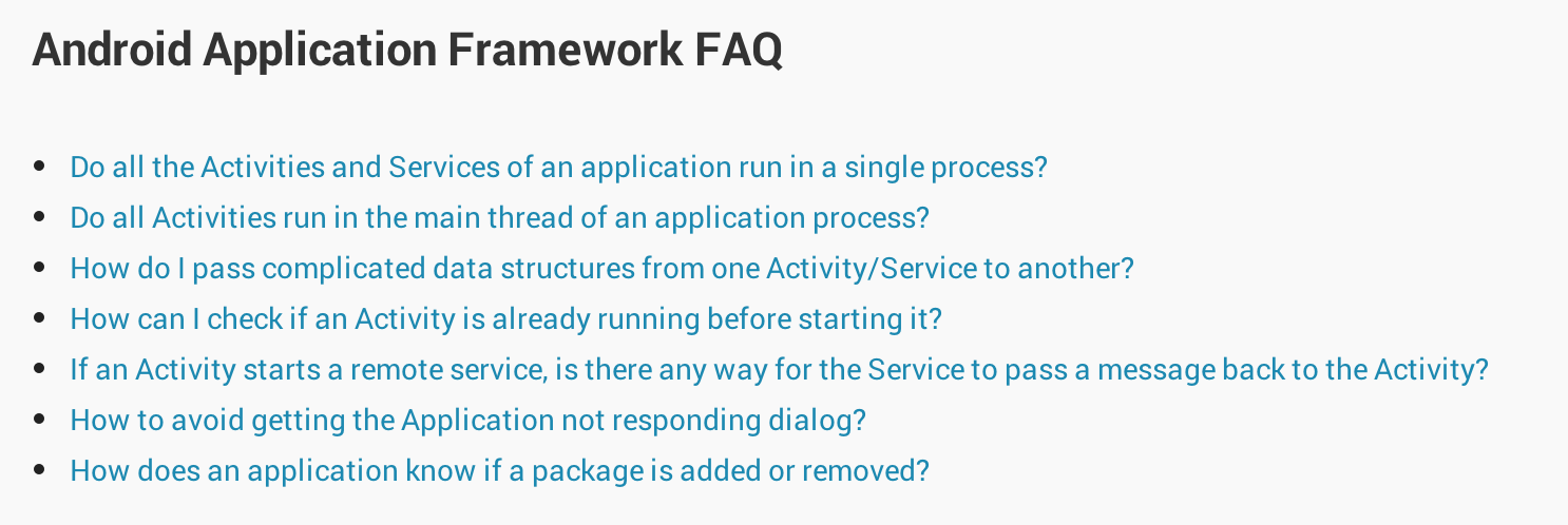 Android_Application_Framework_FAQ___Android_Developers